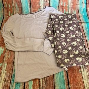 Gilligan & O'Malley Woodland Fox Sleepwear - Sz Lg